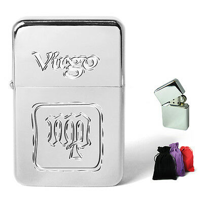 Zodiac Star Sign Engraved Petrol Lighter Personalised Present Xmas Birthday Gift