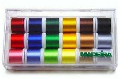 Madeira Polyneon Embroidery Thread Sampler 18 Spools