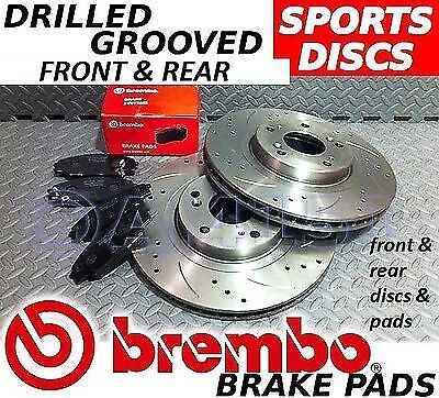Mondeo mk3 2004-2007 Drilled & Grooved FRONT + REAR Brake Discs BREMBO Pads FORD