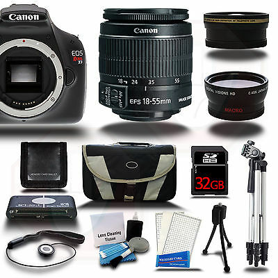Canon EOS Rebel T3 1100D Camera +18-55 +3 Lens Kit + 32GB + Case &More - New USA