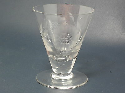 "HUGHES - Cornflower Crystal - Smooth Non Optic - 3 1/4"" FOOTED JUICE - 035"