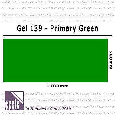 Clear Color 139 Filter Sheet - Primary Green