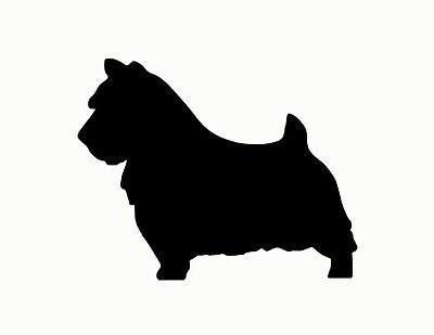 NORWICH TERRIER metal steel not painted 10 inch USA silhouette
