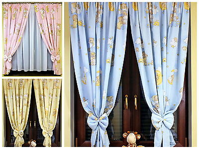 Lovely DECORATIVE WINDOW CURTAINS FOR BABY ROOM  in 4 colours