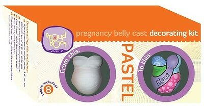 ProudBody Pregnancy Belly Cast DECORATING KIT - PASTEL  Pink Baby Blue Acrylic