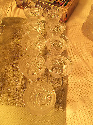 Imperial Cape Cod #1602 Pressed Glass 4 1/2 In 3 Oz Wine Goblet-9  !!free Ship!