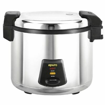 Commercial Rice Cooker, 6 Litre Stainless Steel, Rice Steamer, 36 Portions Apuro