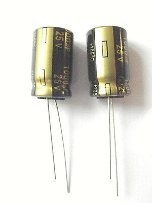 1000uf 25v 105c  Low ESR  Size 20mmx12.5mm Panasonic EEUFM1E102  x2pcs
