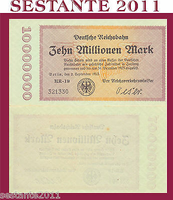 Germany Germania 10.000.000 10  Millionen Mark 2.9. 1923  P S1014 - Fds / Unc