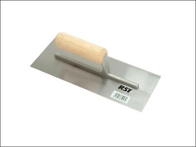 R.S.T. Plasterers Finishing Trowel Straight Wooden Handle 11 x 4.1/2in
