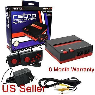 Retro NES Entertainment System Game Console Black/Red New
