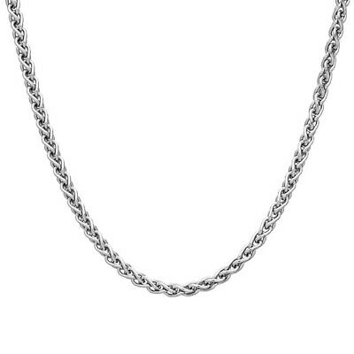 2mm SOLID STERLING SILVER 925 ITALIAN SPIGA LINK STYLE CHAIN NECKLACE JEWELLERY