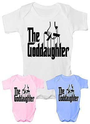 The Goddaughter Chrisening Funny Babygrow Vest Gift Boy Girl Baby Clothing