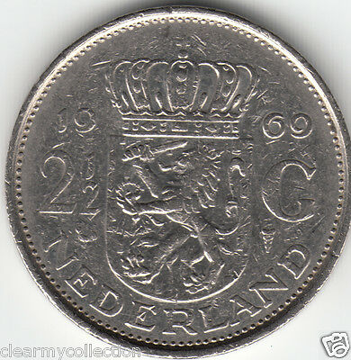 Netherlands 1969 2 1/2 Gulden
