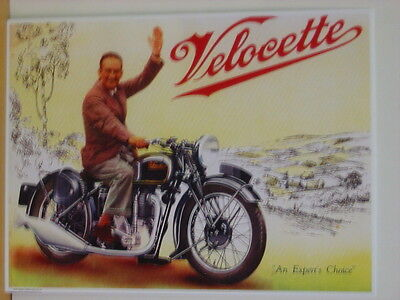 Velocette Motorcycle Metal Reproduction Sign 300