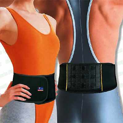 Magnetic Therapy Back Support Lightweight Neoprene Lumbar Belt Strap Pain Relief