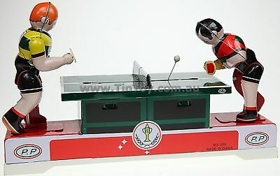 Retro Ping Pong Table Tennis Players Tin Toy Game