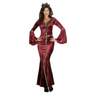Medieval Queen Costume Adult Renaissance Maiden Halloween Fancy Dress