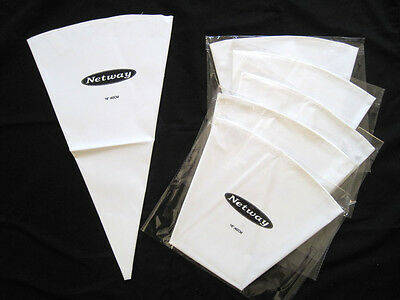 "16"" Reusable Pastry Bag , Heavy Duty, Cotton Outside,  Plastic Coated Inside 6pc"