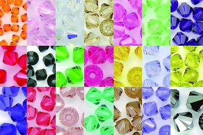 10 Pcs x Swaroski Crystal Bicone Beads 4mm 5301/5328