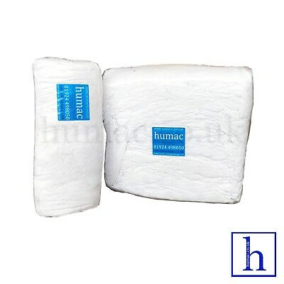 20KG White Sheeting Lint Free Cleaning Rags Wipers Wiping Polishing Cloths HUMAC