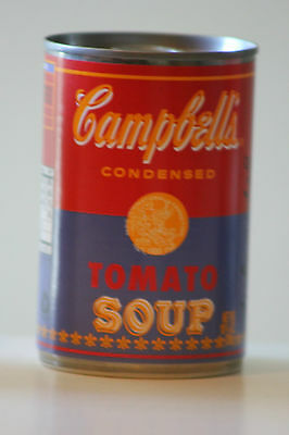 ANDY WARHOL CAMPBELL'S SOUP 50th ANNIVERSARY POP ART LTD EDITION RED & BLUE