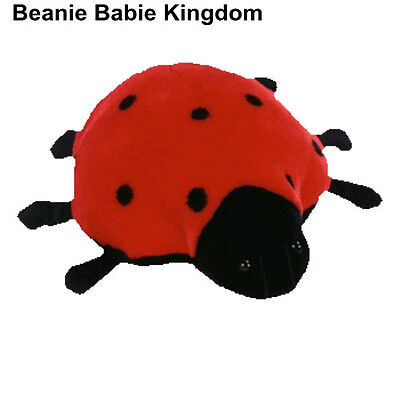 "Ty Beanie Buddie * Lucky * The Black & Red Lady Bug 10"" 09354"