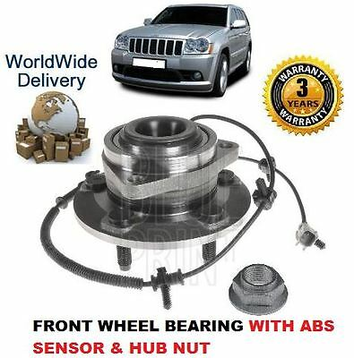 For Jeep Grand Cherokee 3.0 4.7 5.7 6.1 2005--  Front Wheel Bearing + Abs Sensor