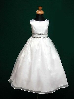 Elena Flowergirl Flower Girl 1st Holy Communion Bridesmaid Wedding White Dress