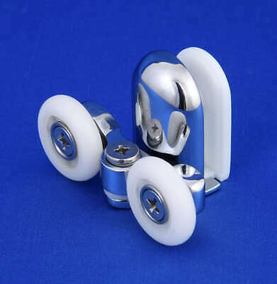 2 x Shower Door Rollers/Runners/Wheels Spring Loaded Bottom (Two Pieces)