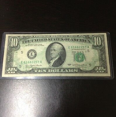 1977 $10 Over Print Entire Front Error Note!!!!
