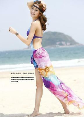 New Arrived 6 colors pick Sexy Sarong Pareo Beach Cover Up Scarf Swimwear 1PCS