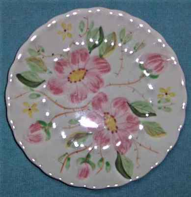 "VINTAGE BLUE RIDGE POTTERY/SOUTHERN POTTERIES - WILD ROSE - 6"" PLATE(s)"