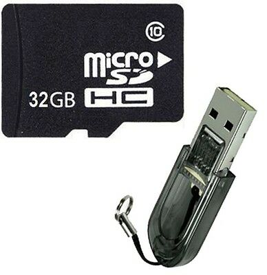 OEM 32GB 32G Class 10 Micro SD Micro SDHC TF Flash Memory Card + R2