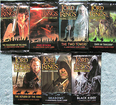 Lord of the Rings TCG Sealed Booster Pack Selection (LOTR CCG)