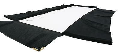 Pro Jewelry Roll-up Case Mass Storage Bag Travel Organizer for 4 Necklaces - BLK