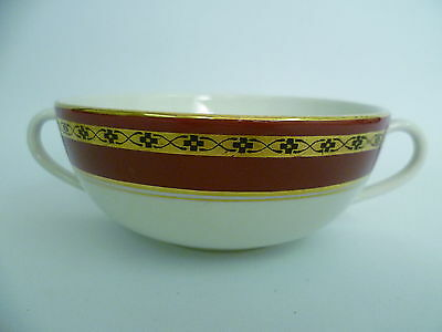 BURLEIGH RED/GOLD/CREAM TWO HANDLED SOUP CUPS