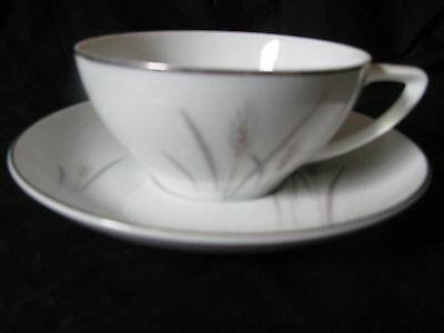 Platinum Wheat Fine China Japan Cup and Saucer