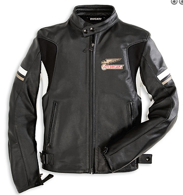 Giacca in pelle Ducati Eagle by Dainese taglia 56 981015556 - leather jacket