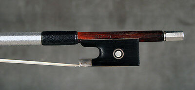 A fine French certified violin bow by Marc Laberte, 1950.