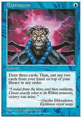 Tempesta Cerebrale - Brainstorm MTG MAGIC 5E 5th Edition English