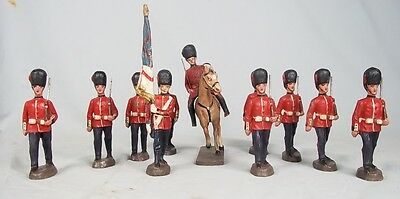 c.1934 Collection Of Eleven Elastolin Coldstream Soldiers