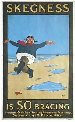 Vintage Skegness Train Railway VTARP081 Art Print A4 A3 A2 A1