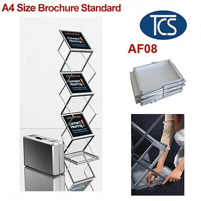 TCS Foldable A4 Brochure & Catalogue Stand/ Holder with Hard Shell Case
