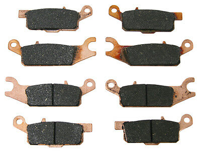 Front & Rear Brake Pads Yamaha 2007-2016 Grizzly 700 & 2009-2014 Grizzly 550