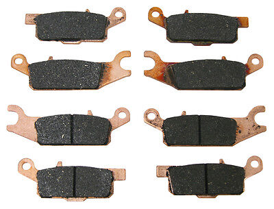 Front & Rear Brake Pads Yamaha 2007-2017 Grizzly 700 & 2009-2014 Grizzly 550