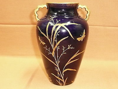 Pointons Gilt Vase Dragonfly Butterflies C1900