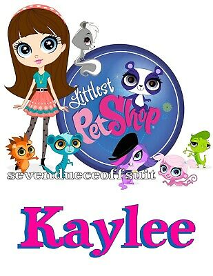 New Custom Personalized Littlest Pet Shop Pink T Shirt Party Favor Gift Present