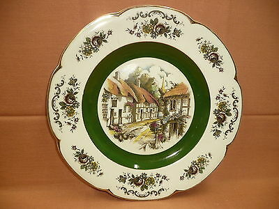 Yellow & Red Roof Cottage Display Plate