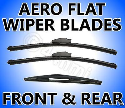 3 x Front+Rear Aero Wiper Blades FORD FUSION 2002-ON